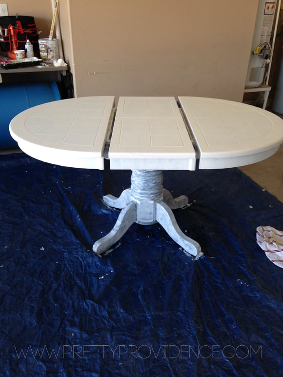 Tutorial: How to refinish an old tile topped table for super cheap!
