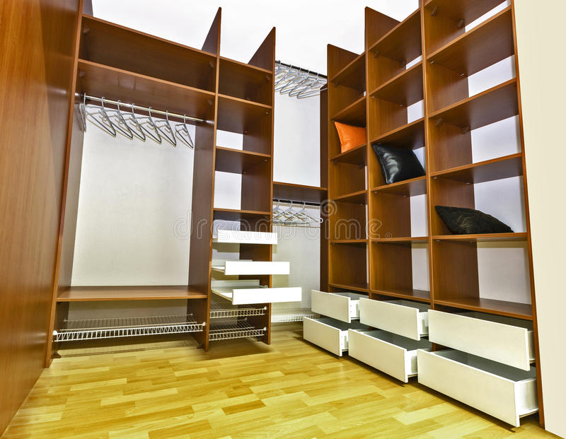Built-in closet royalty free stock images
