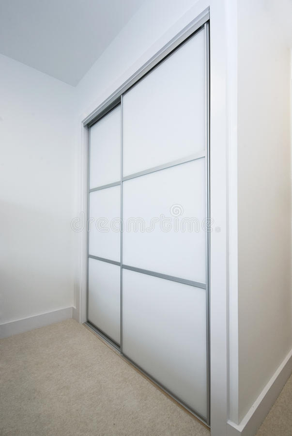 Large built in wardrobe stock photography