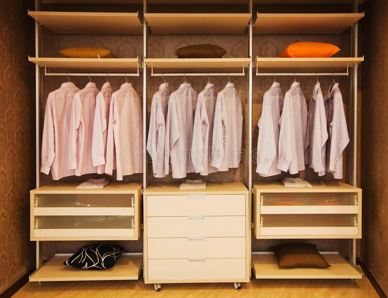 Wardrobe stock image