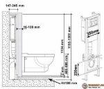 Высота кнопки инсталляции – правильный крепеж к стене и расчет глубины крепления, размеры установки по схеме и подвод канализации. Сколько нужно места для монтажа?